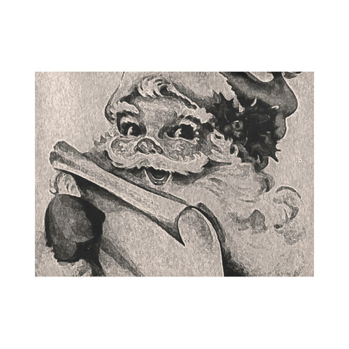 santa black and white by JamColors Placemat 14'' x 19'' (Four Pieces)