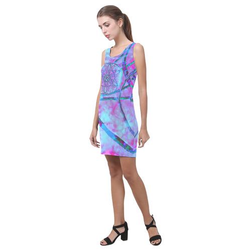 protection through an indigo wave Medea Vest Dress (Model D06)