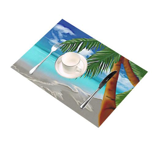 Calgon Beach Placemat 14'' x 19'' (Four Pieces)