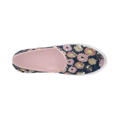 Anabelle,flowers,botanical,pink,blue Selene Deep Mouth Women Shoes (Model 311)