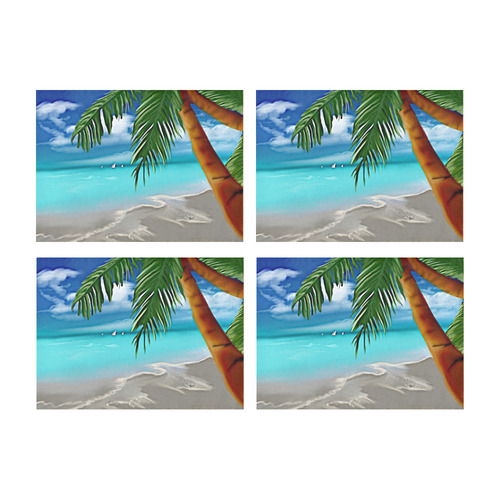 Calgon Beach Placemat 14'' x 19'' (Four Pieces)
