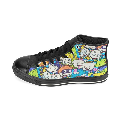 Rugrats pattern High Top Canvas Shoes for Kid (Model 017)
