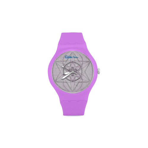 Protection- transcendental love by Sitre haim Unisex Round Rubber Sport Watch(Model 314)