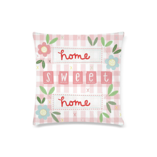 """home sweet home cushion Custom Zippered Pillow Case 16""""x16""""(Twin Sides)"""