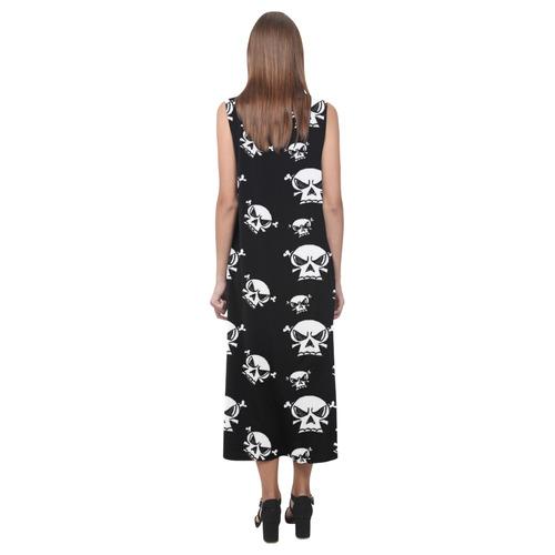 Skull Boys Phaedra Sleeveless Open Fork Long Dress (Model D08)