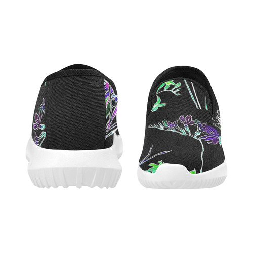 Flowers and Birds C by JamColors Orion Slip-on Women's Canvas Sneakers (Model 042)