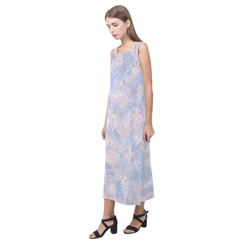 Rose Quartz and Serenity blue 4644 Phaedra Sleeveless Open Fork Long Dress (Model D08)