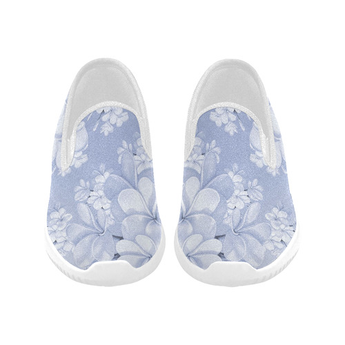 Delicate floral pattern,blue Orion Slip-on Women's Canvas Sneakers (Model 042)