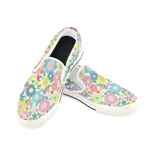 Flowery Wowery Slip-on Canvas Shoes for Kid (Model 019)