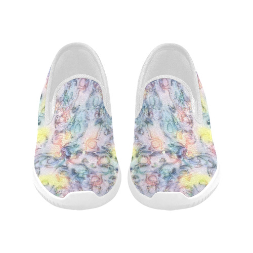 softly floral C by JamColors Orion Slip-on Women's Canvas Sneakers (Model 042)
