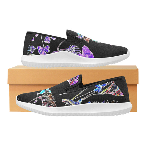 Flowers and Birds B by JamColors Orion Slip-on Women's Canvas Sneakers (Model 042)