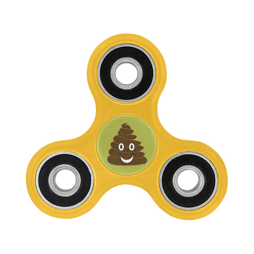 smiling poo emoji slime green background inspired by my 8 yr old nephew fidget spinner Fidget Spinner