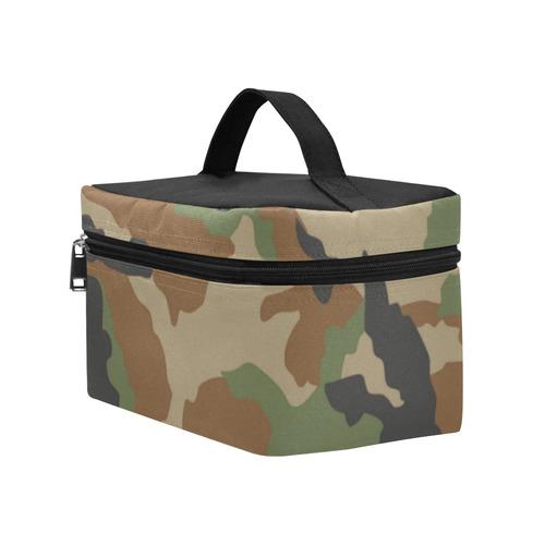 woodland camouflage pattern lunch bag Lunch Bag/Large (Model 1658)