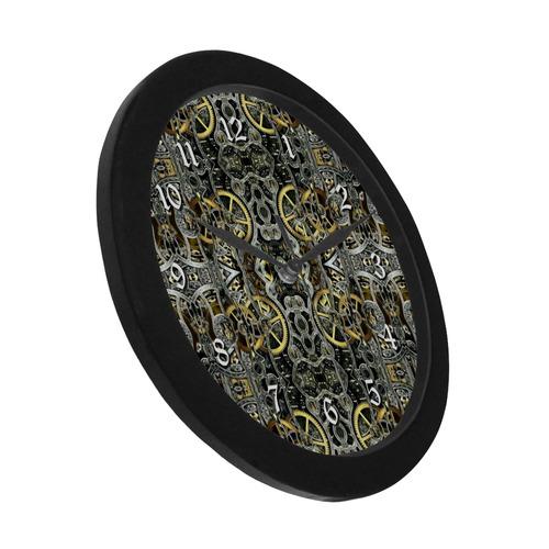 Steampunk Gears Pattern Circular Plastic Wall clock   ID: D1751036