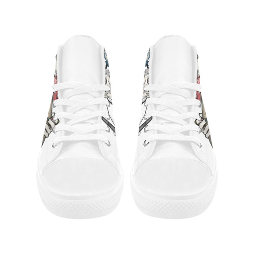 Suiced Squad Aquila High Top Microfiber Leather Women's Shoes (Model 032)