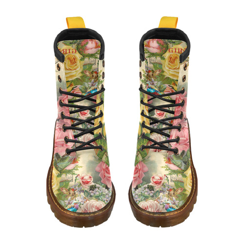 OUT OF STOCK Renaissance Roses High Grade PU Leather Martin Boots For Men Model 402H