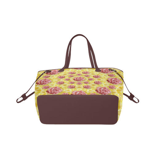 roses and fantasy roses Clover Canvas Tote Bag (Model 1661)