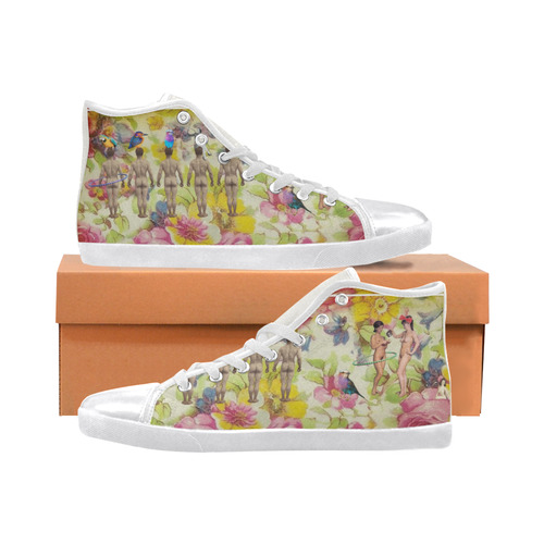 Playtime Women's High Top Canvas Shoes (Model 002)