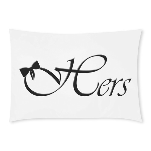 Hers - For Her Custom Rectangle Pillow Cases 20x30 (One Side)
