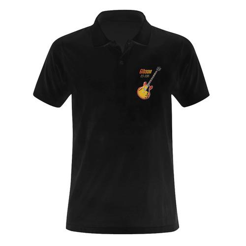 Wonderful Vintage Gibson ES-335 Men's Polo Shirt (Model T24)