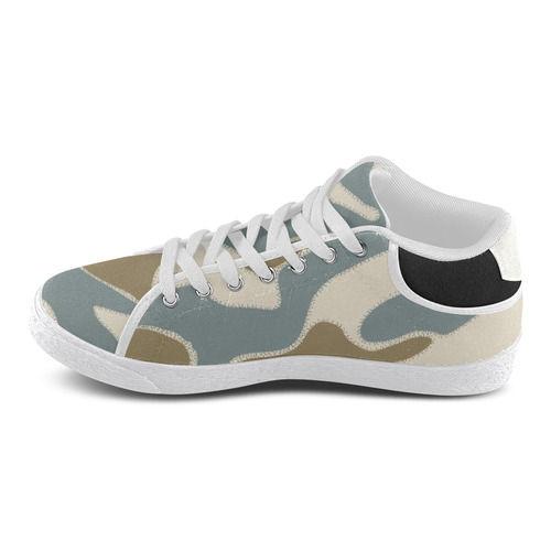 """Camouflage """"Lighter"""" Men's Chukka Canvas Shoes (Model 003)"""