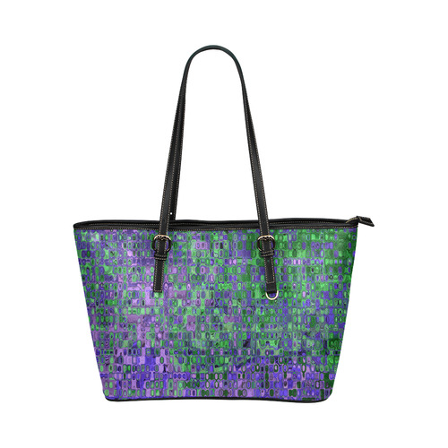 Graphics 10_14 Leather Tote Bag/Large (Model 1651)