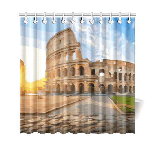 Rome Coliseum At Sunset Shower Curtain 69x70