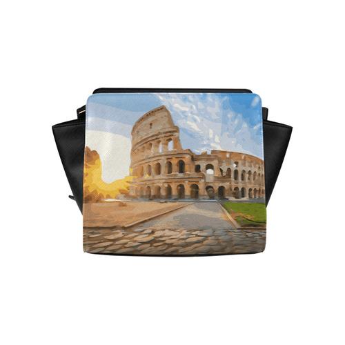 Rome Coliseum At Sunset Satchel Bag (Model 1635)