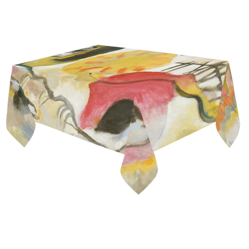 "Wassily Kandinsky Improvisation 27 Garden of Love Cotton Linen Tablecloth 60""x 84"""