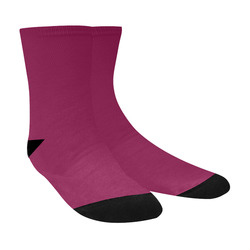88d803ab14f6 Designer Color Solid Rose Bud Cherry Crew Socks
