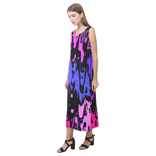 modern abstract 46B by JamColors Phaedra Sleeveless Open Fork Long Dress (Model D08)