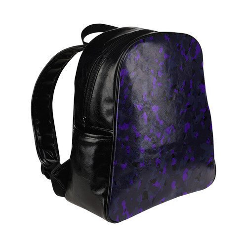 darkpurplecamo1 Multi-Pockets Backpack (Model 1636)