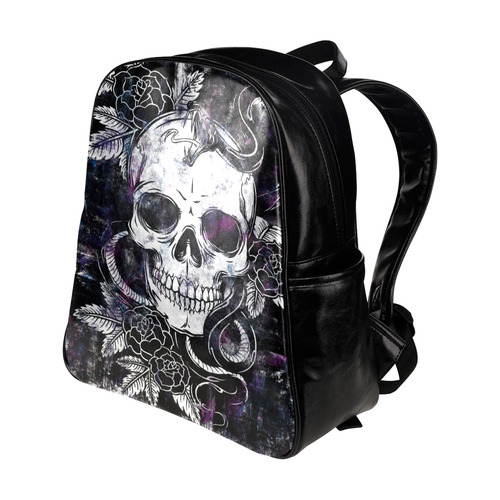 skullsnakeandrose Multi-Pockets Backpack (Model 1636)