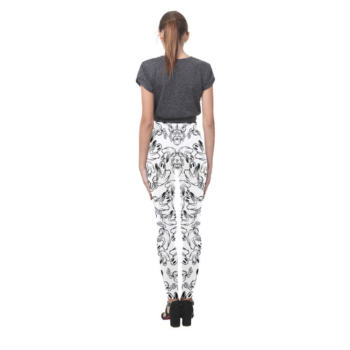 Cute Halloween Ghosts Cassandra Women's Leggings (Model L01)