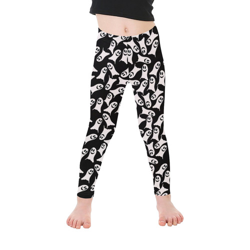 Cute Halloween Ghosts Kid's Ankle Length Leggings (Model L06)
