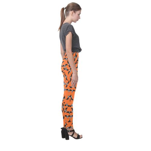 Halloween Skeleton Bats Cassandra Women's Leggings (Model L01)