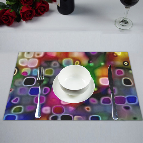 psychedelic lights 2 by JamColors Placemat 14'' x 19''
