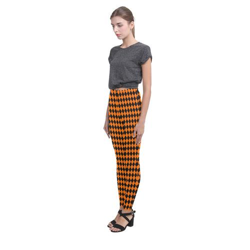 Halloween Harlequin Diamond Pattern Cassandra Women's Leggings (Model L01)
