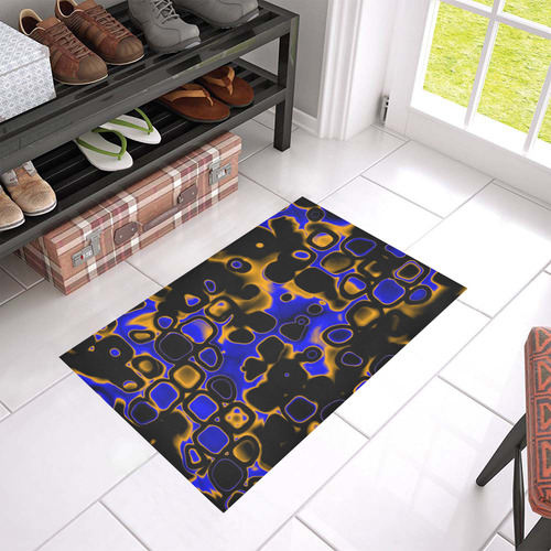 "psychedelic lights 5 by JamColors Azalea Doormat 24"" x 16"""