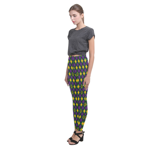 Halloween/Mardi Gras Diamond Pattern Cassandra Women's Leggings (Model L01)