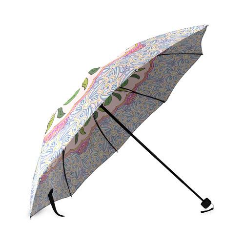 Garden Party Doodle Art Foldable Umbrella (Model U01)