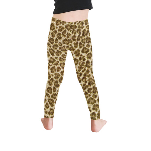 Halloween Leopard Fabric Pattern Kid's Ankle Length Leggings (Model L06)