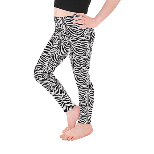 Halloween Zebra Pattern Kid's Ankle Length Leggings (Model L06)