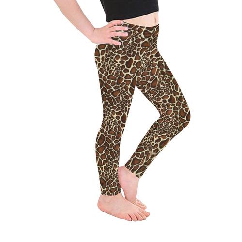 Halloween Giraffe Animal Pattern Kid's Ankle Length Leggings (Model L06)
