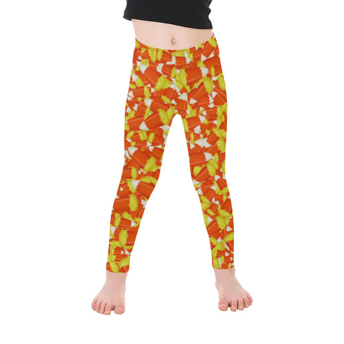 Halloween Candy Corn Kid's Ankle Length Leggings (Model L06)