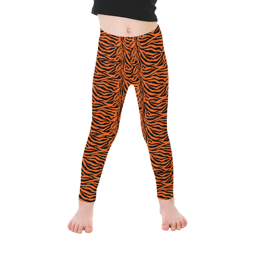 Halloween Tiger Pattern Kid's Ankle Length Leggings (Model L06)