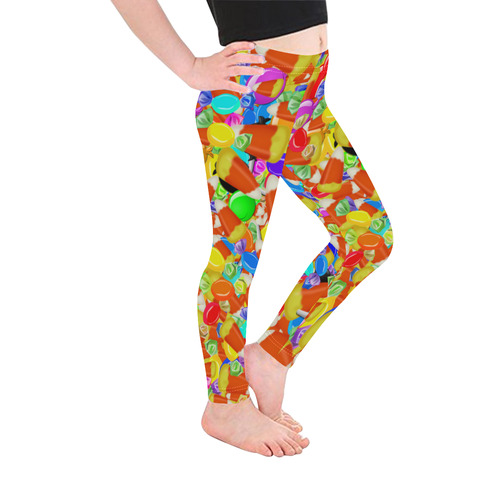 Halloween Candy Kid's Ankle Length Leggings (Model L06)
