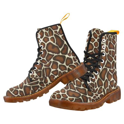 Giraffe Spots Martin Boots For Men Model 1203H