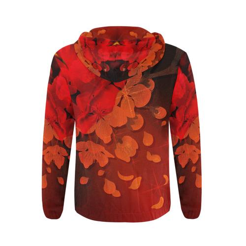 cherry blossom All Over Print Full Zip Hoodie for Men (Model H14)