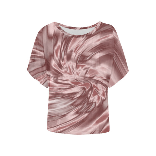 94f26250 Dusty pink silk look alike All Over Print T-shirt Women's Batwing-Sleeved  Blouse T shirt (Model T44) | ID: D1799829
